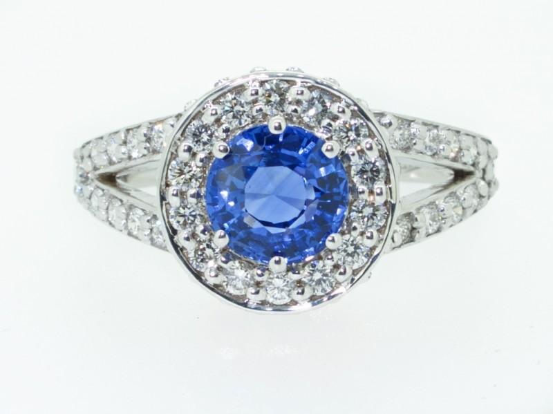 Zaffiro di Ceylon e Diamanti